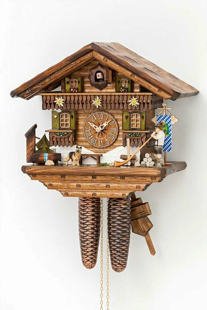 8-Day Long Horn Blower Chalet Cuckoo Clock