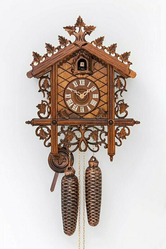 1-Day Frilly Carved Chalet Cuckoo Clock
