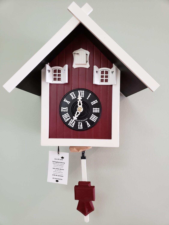1-Day Red Barn Cuckoo Clock