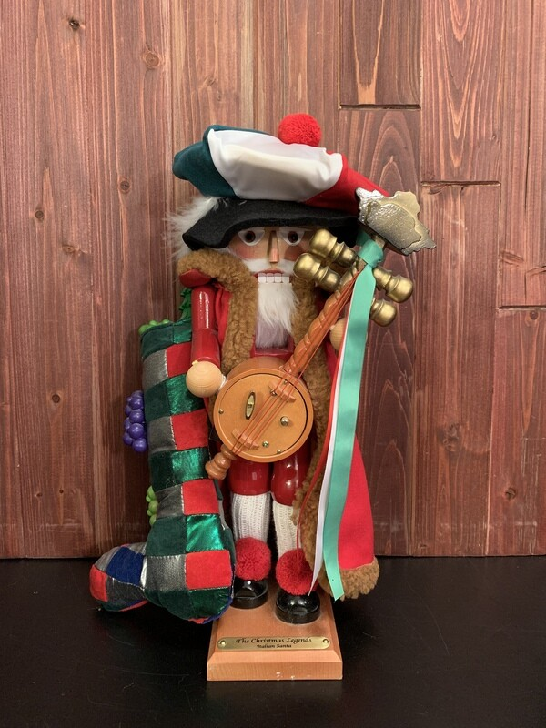 Italian Santa Nutcracker & Music Box
