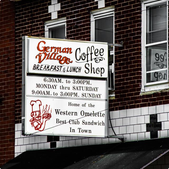 German Village Coffee Shop Coaster