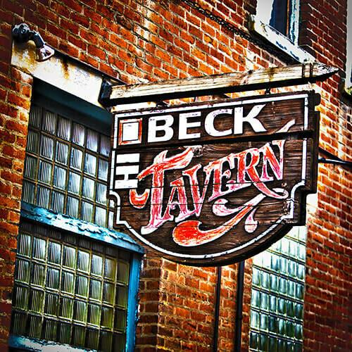 High Beck Tavern Wooden Sign