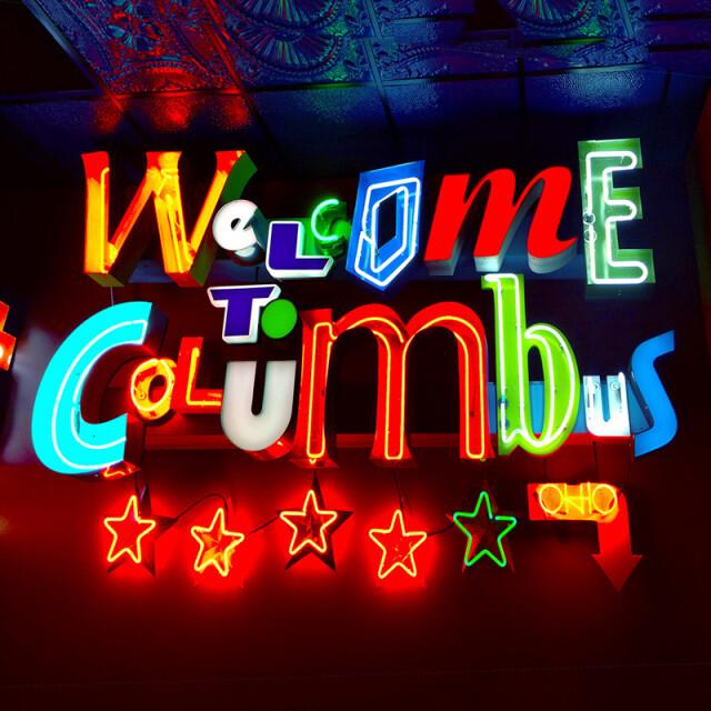 Columbus Welcome Neon