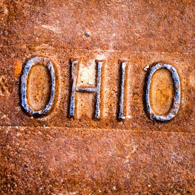 Ohio Manhole Rust 2 Coaster