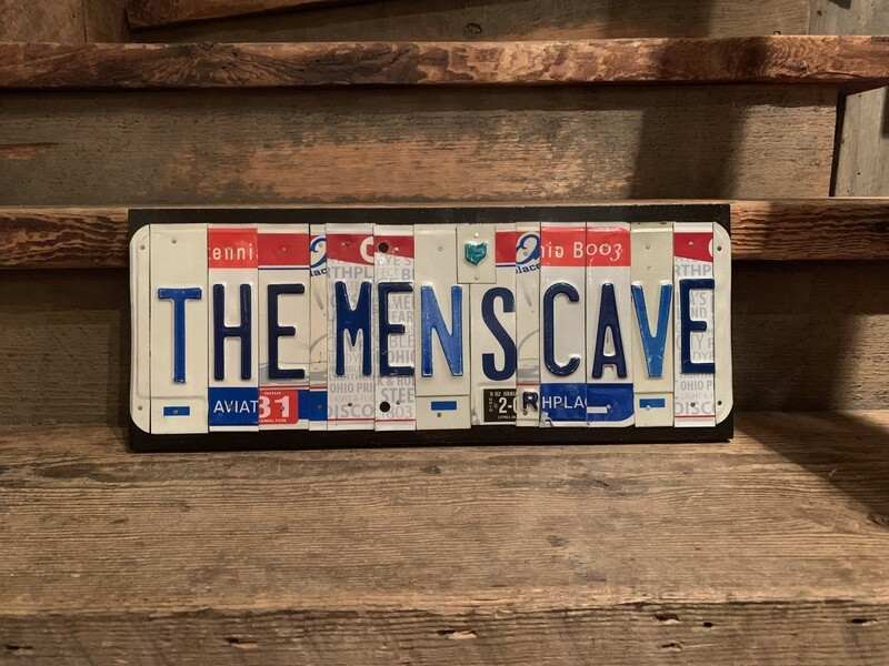 The Mens Cave License Plate