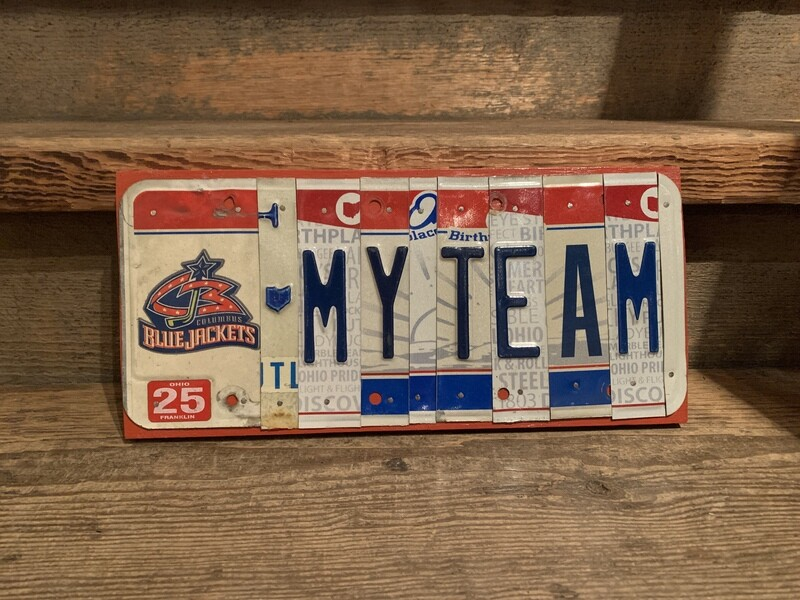 Blue Jackets My Team License Plate