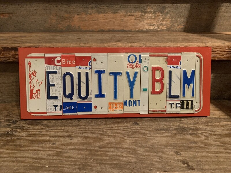 Equity BLM License Plate