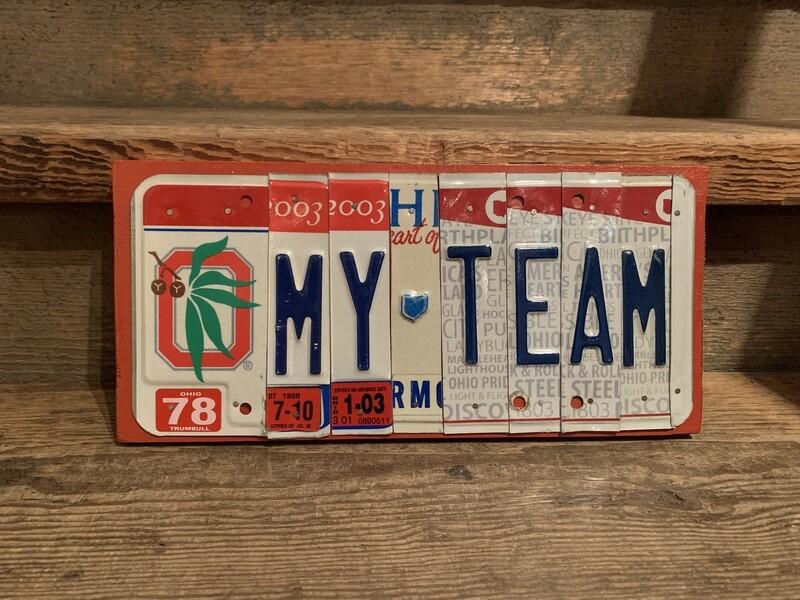 Buckeyes My Team License Plate