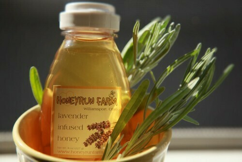 Raw Lavender infused Honey 8oz