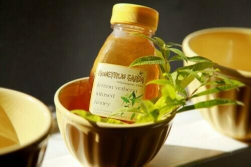 Raw Lemon Verbena Infused Honey 8oz