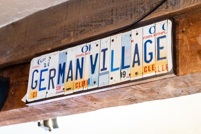 GERMAN VILLAGE License Plate Art