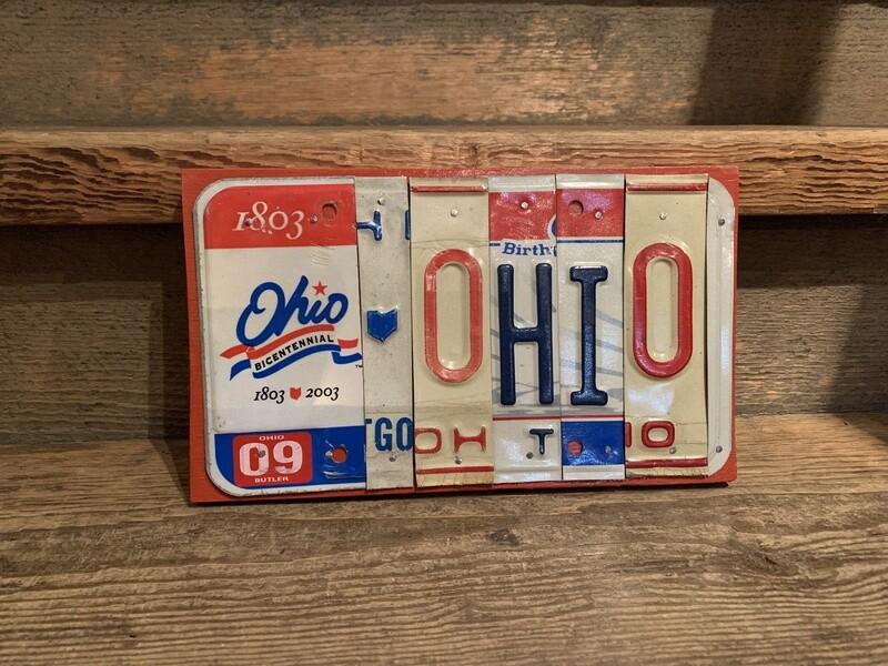 OHIO BICENTENNIAL License Plate Art