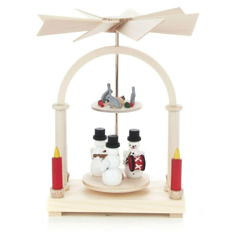 2 Level Mini Snowman Pyramid