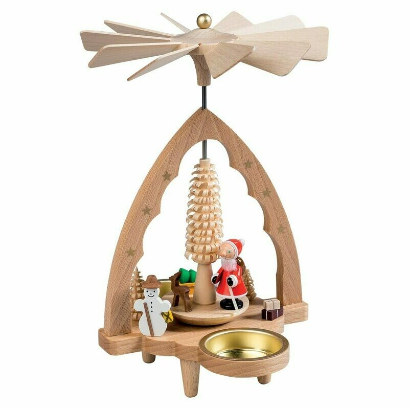 Santa Snowman Christmas Pyramid