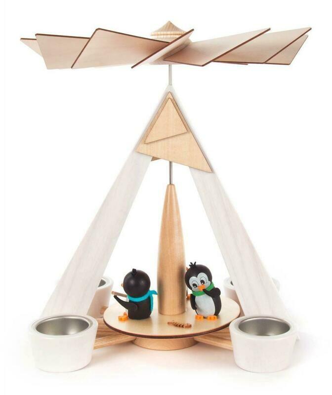 Playful Penguins Christmas Pyramid