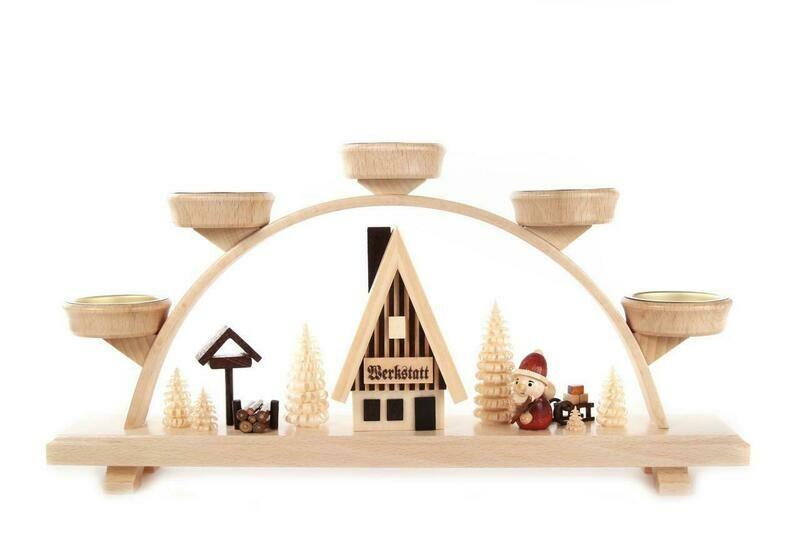 Santa Workshop Tealight Arch