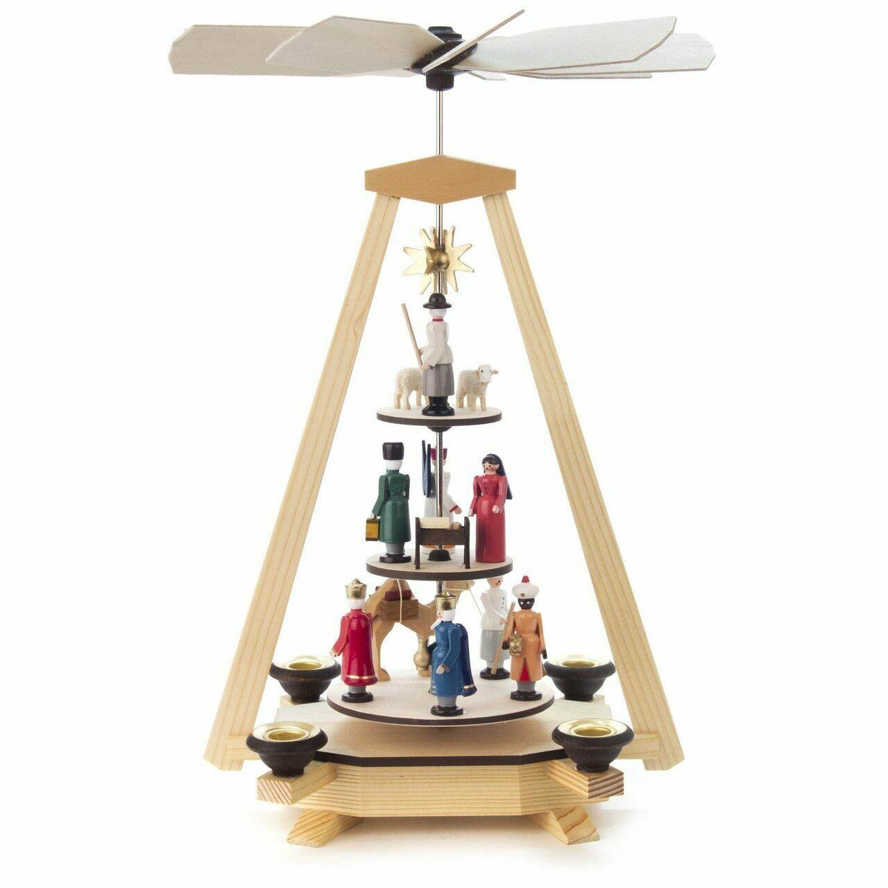 3-Level Nativity Christmas Pyramid
