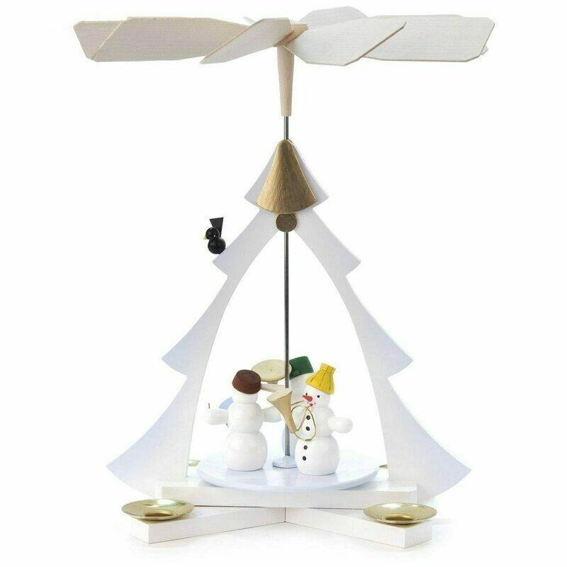 Snowman Christmas Tree Tealight German Pyramid