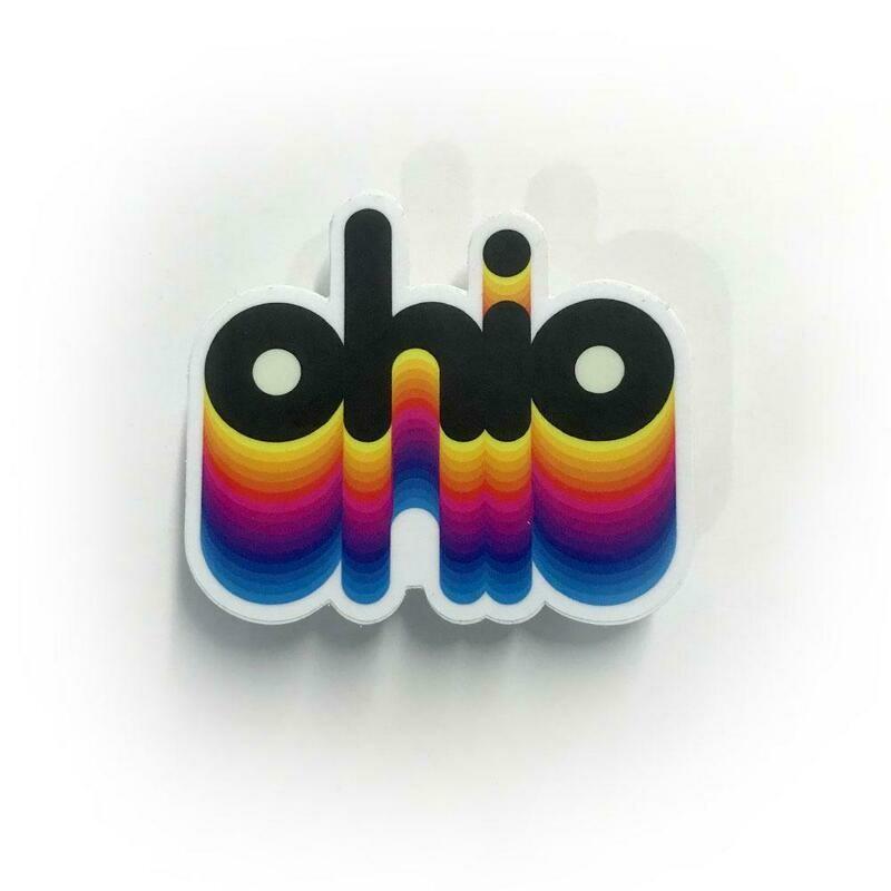 Rainbow Ohio Vintage Sticker