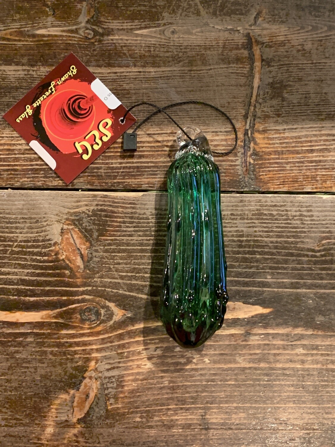 Hand Blown Small Christmas Pickles Glass Ornaments
