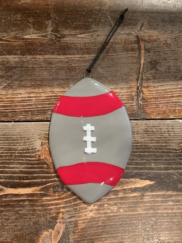 Scarlet & Gray Football Ornament