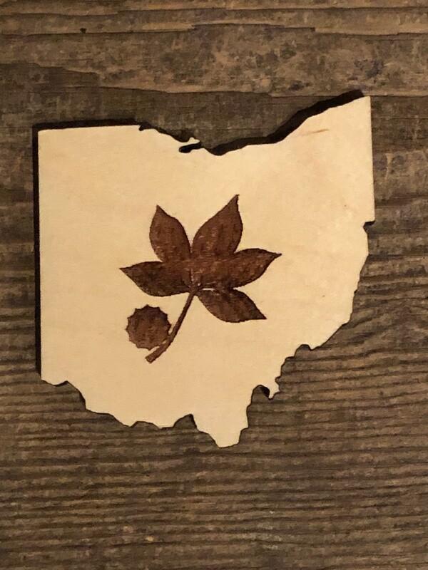 Buckeye Leaf Coaster