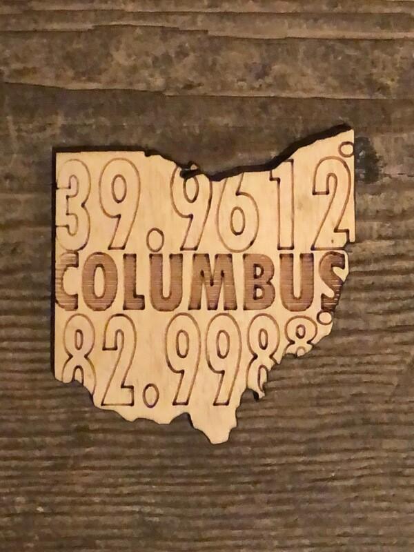 Columbus Latitude and Longitude Coaster