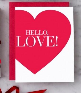 Hello Love Greeting Card