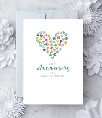 Happy anniversary to the beautiful couple Greeting Card