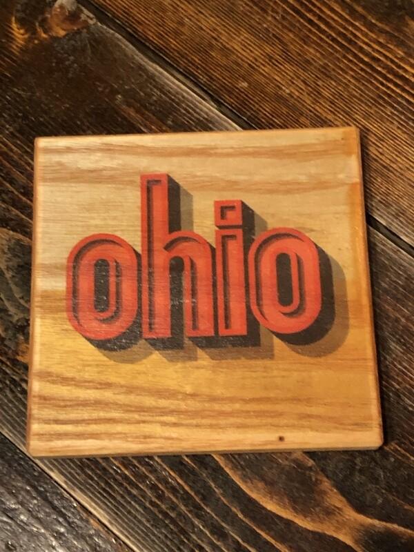 Ohio Drop Shadow Coaster