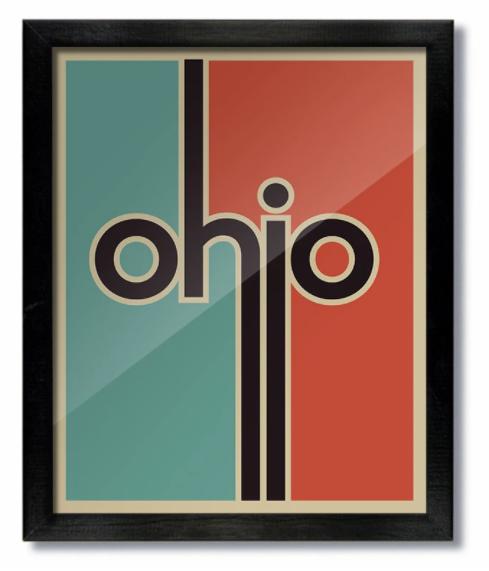 Retro Ohio Print