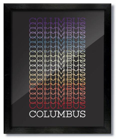 Columbus Gradient Print
