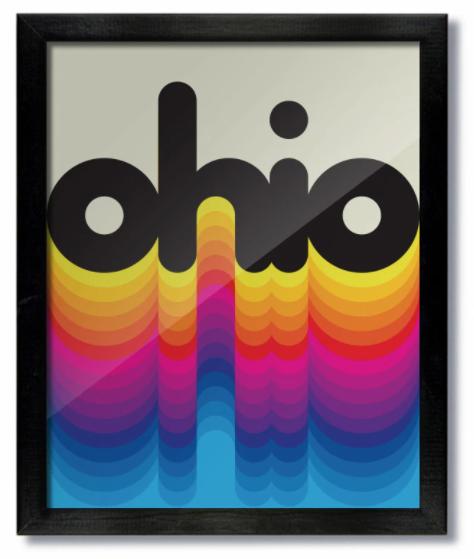 Ohio Rainbow Print