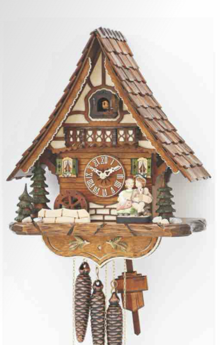 1-Day Kissing Couple Chalet Music Cuckoo Clock