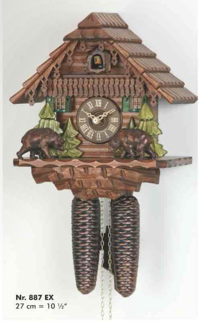 8-day Carved Bears Cuckoo Clock