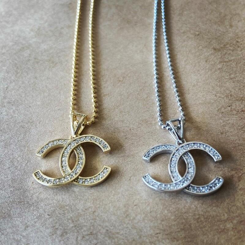 Chanel Open Interlocking Necklace