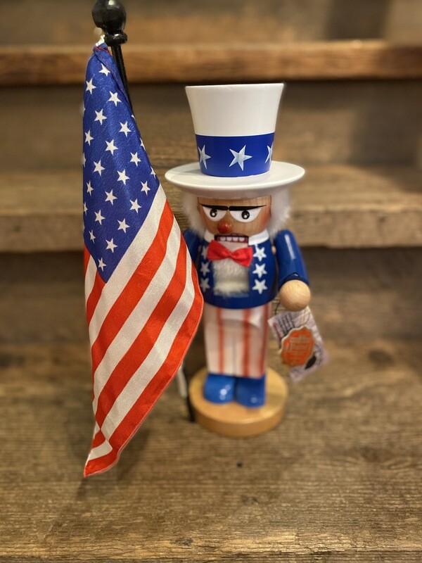 Chubby Uncle Sam Nutcracker
