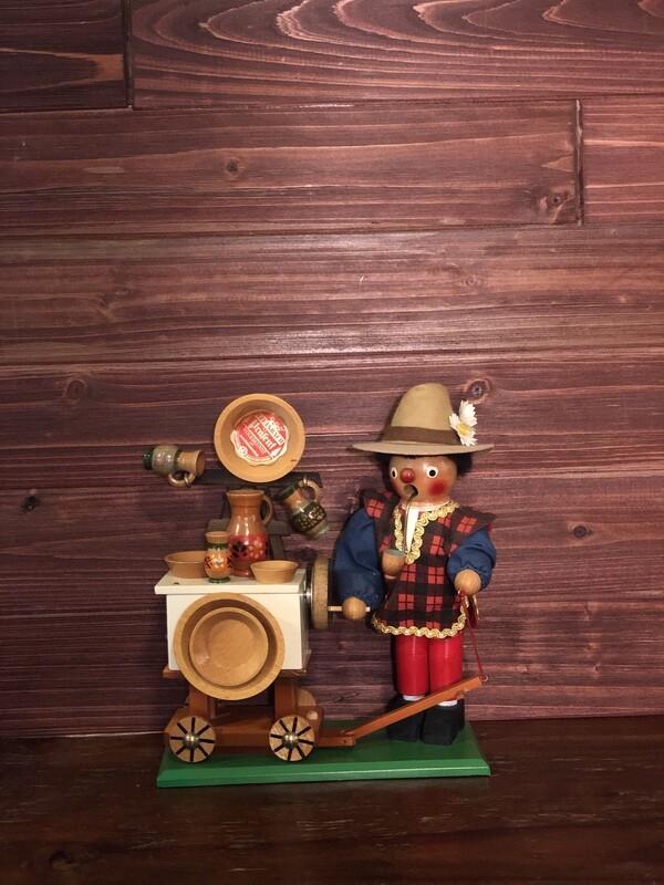 Bohemian Pottery Salesmen Smoker & Music Box