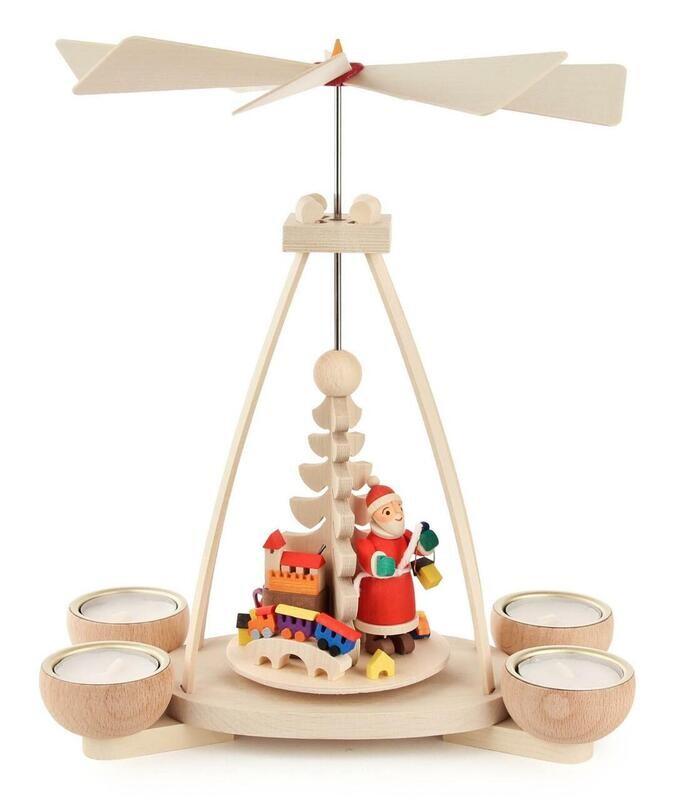 Santa Pyramid with Tealight Candles