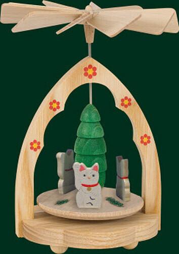 Three Kittens Cats Mini German Pyramid