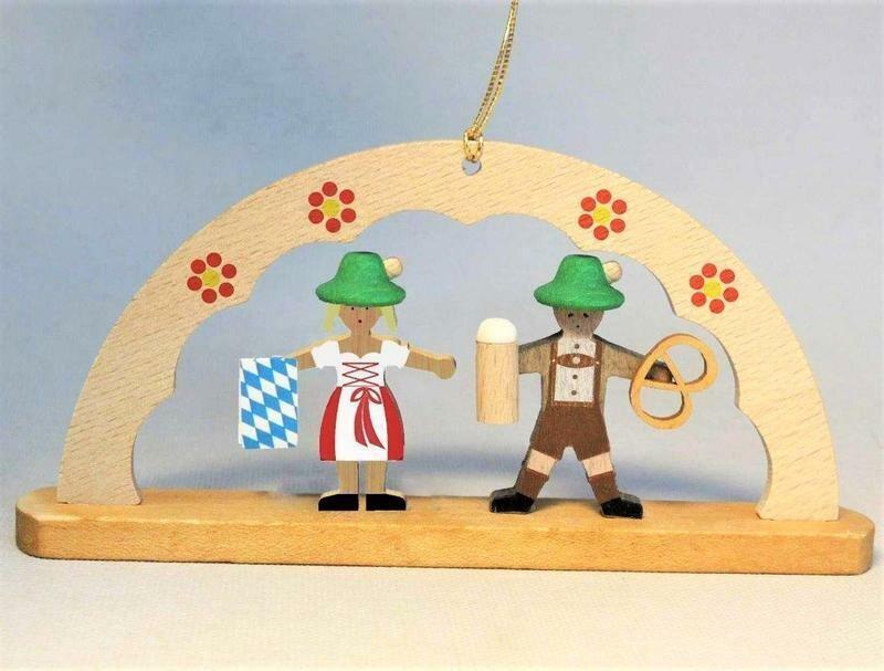 Oktoberfest Bavarian Pretzel Man Ornament