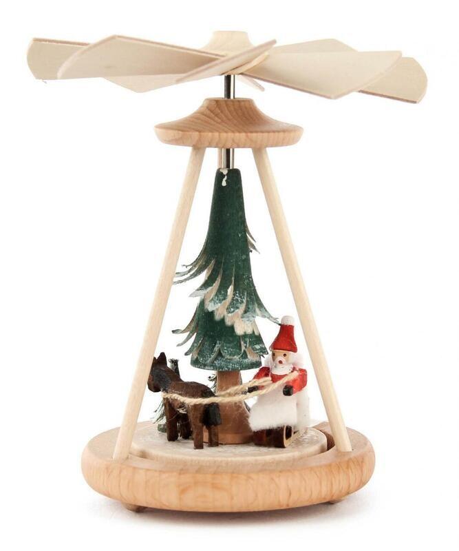 Mini Santa Sleigh with Horse Pyramid