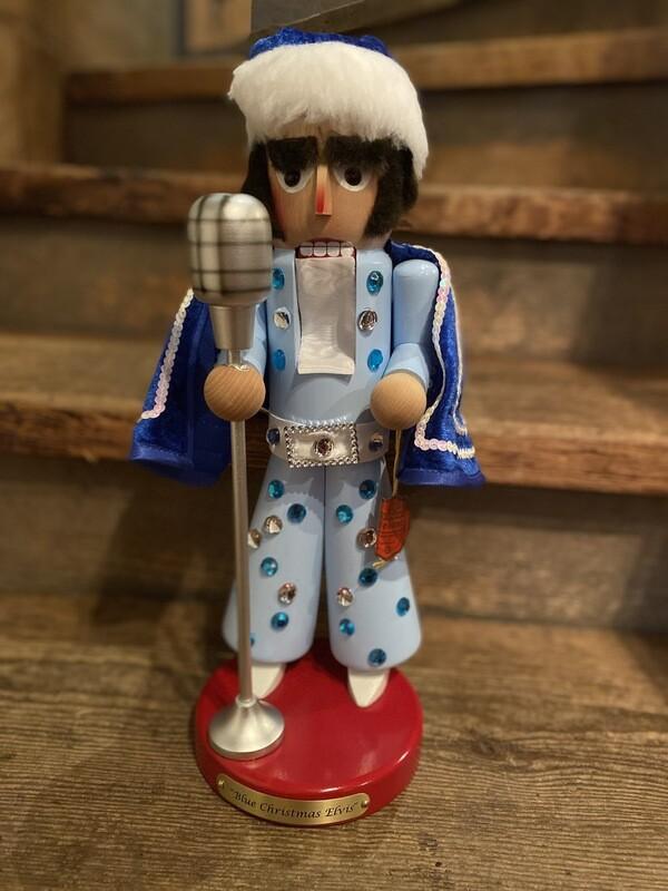 Blue Christmas Elvis Nutcracker