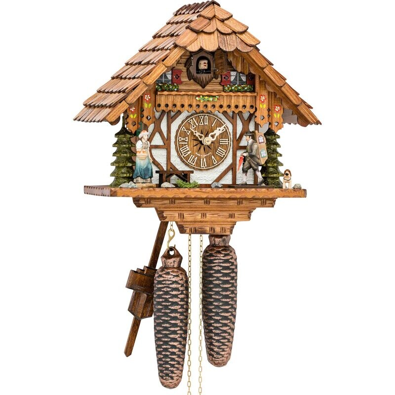 8-day Chalet Salesman Cuckoo Clock