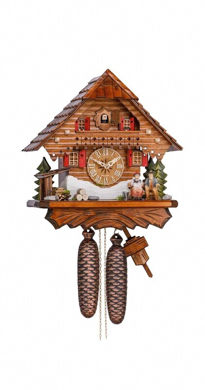 8-Day Old Couple Chalet Cuckoo Clock