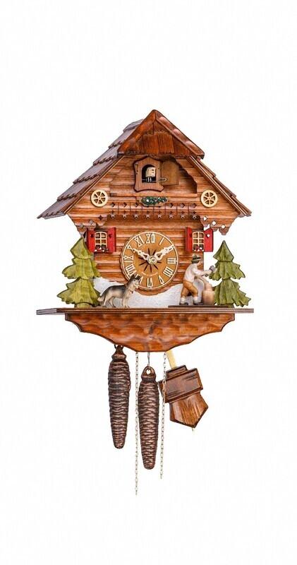 1-Day Chalet German Shepard Cuckoo Clock