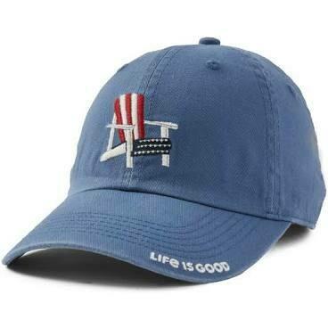 Life is good Chill Cap Americana Adirondack VINTAGE BLUE