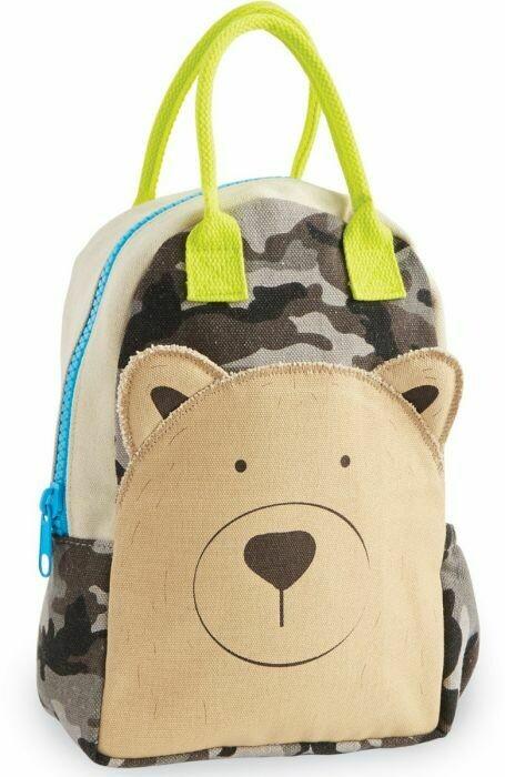 Mud Pie Kids Canvas Bear Backpack