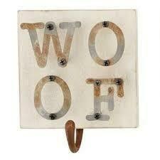 Mud Pie Dog Leash Hanger WOOF
