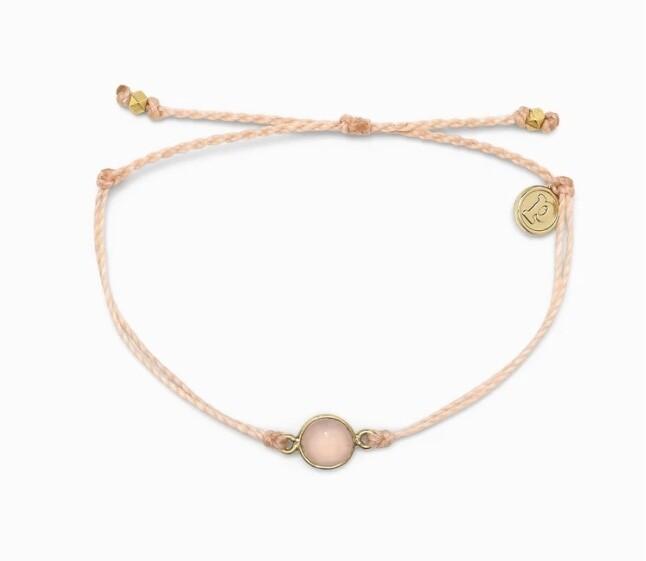 Pura Vida Rose Quartz Stone Bracelet